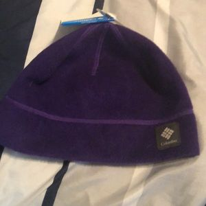 Purple cold weather hat